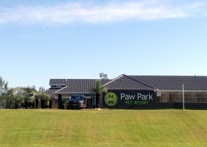Paw Park Pet Resort Signage From Highway